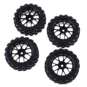 4 Stk. Reifen-Set, Gummireifen für 1/10 HSP HPI RC Auto
