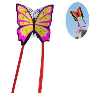 Schmetterling Drachen flugdrachen für Kinder und Erwachsene (Rosa)