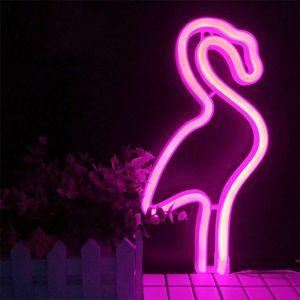 Flamingo Licht Zeichen-LED neonpink Wandleuchte, Haus oder Kinderzimmer, Batterie oder USB-Dekoration für Bars