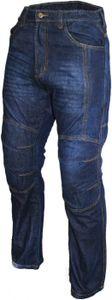 Denim Motorradjeans Motorradhose Futter aus Aramidfasern Jeans inkl. Protektoren Blau, Jeansgröße:W36 / L34