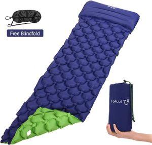 TOPLUS Camping Isomatte Luftmatratzen 190 * 59 * 6CM, Outdoormatte Aufblasbare Schlafmatte mit Kissen und Augenmaske
