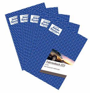 AVERY Zweckform 223 Fahrtenbuch für PKW 5er-Pack vom Finanzamt anerkannt A5