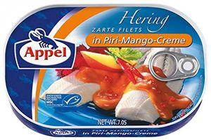 Appel Heringfilets in fruchtig scharfen Piri Mango Creme 200g