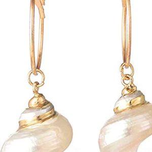 Mllaid Natürliche Muschel Ohrringe, Muschel glatte Ohrringe, Mode-Persönlichkeit Ohrringe