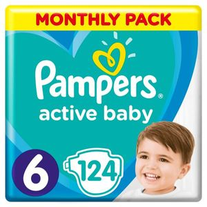 PAMPERS Windel Active Baby 6 extra große 124 Stück