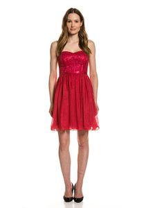 Vera Mont Party-Kleid summer statement glitzerndes Cocktailkleid für Damen Rot, Größe:38