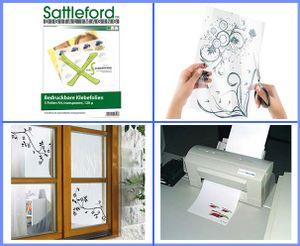 Bedruckbare Klebefolie 5 Klebefolien A4 transparent für Inkjet Drucker Klebefolie zum Bedrucken