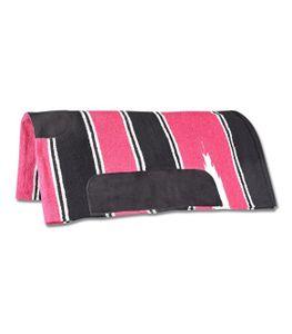 Navajo Decke, pink/schwarz, Pony
