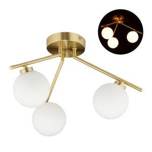 relaxdays Deckenlampe mit 3 Kugeln GLOBI