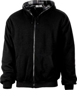 Albatros Fleece/Sweat-Wendejacke, 263920 schwarz grau-XL