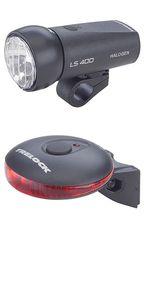 Trelock Batterieleuchten-Set, bestehend aus Halogen-Scheinwerfer 15 Lux LS 400 und LED-Rücklicht LS 610 mit 4 LED; 0853