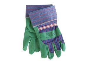 "1 Paar Arbeitshandschuhe 10"" Schutzhandschuhe Baumwolle Gartenhandschuhe grün"