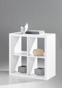 STYLE Raumteiler 2 x 2 - Weiss Nachbildung - BHT ca. 77 / 77 / 38 cm