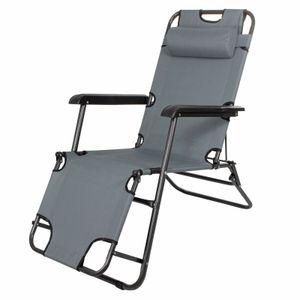 Sonnenliege Gartenliege Relaxliege Schaukelliege Liegestuhl Camping - Grau