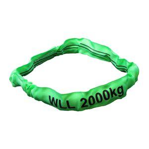 Rundschlinge grün, Tragkraft 2000 kg,  1,0 m