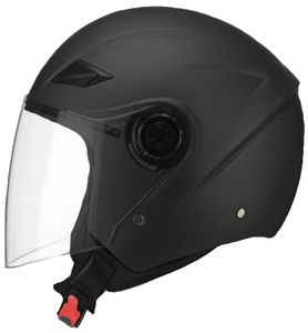 Jethelm 702 matt schwarz Helm Gr. M Motorradhelm Sturzhelm Rollerhelm