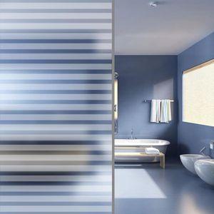 Fensterfolie Sichtschutzfolie Streifen Selbstklebend 0,9x5 m