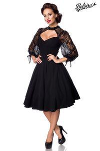 Longsleeve Spitzenkleid, Farbe: schwarz, Größe: 3XL