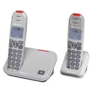 amplicomms PowerTel 2702 Schnurloses Seniorentelefon LC-Display Grau
