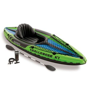 Intex 68305NP- Boot Kajak Schlauchboot Challenger K1 Set, bis 100kg - grün