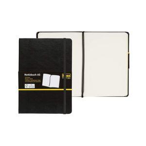 IdenaDIN A5 Notizbuch blanco weiß leer 192 Seiten, 80 g/m² holzfreies Papier Notizheft Tagebuch mit Lesezeichen