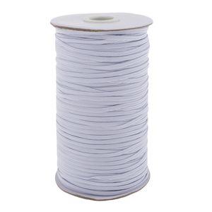 182m Gummiband 3mm, Gummilitze weiß Hosengummi Gummiband Elastisches Band Elastische Gummi Bänder für Nähen und Haushalt