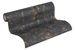A.S. Création Vintagetapete Blooming Vliestapete schwarz gold 10,05 m x 0,53 m