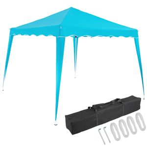 Pavillon oder Seitenwand 3x3m UV-Schutz 50+ wasserdicht faltbar inkl. Tasche Faltpavillon Zubehör Pop Up Zelt Capri, Farbe:hellblau