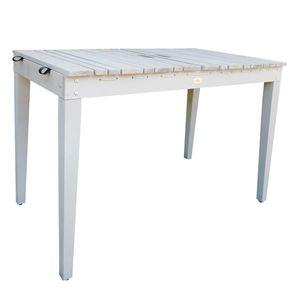 Habau Gartentisch / Balkontisch mit Wäscheleine Holz grau 106x60cm