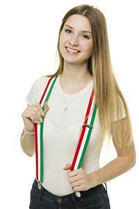 Shenky Italien hochwertiger Hosenträger mit 3 Clips Klips Y-Form Italia