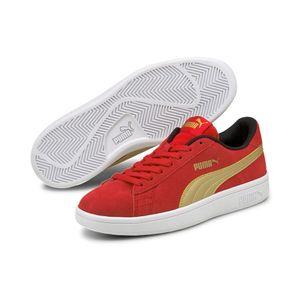 Puma Smash v2 SD Jr Low Top Damen Unisex Kinder Sneaker Turnschuhe, Größe:EUR 36   UK 3.5   22.5 cm, Farbe:Rot (High Risk Red)