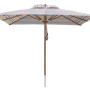 anndora Sonnenschirm Gartenschirm 3 x 3 m eckig + Winddach gestreift 7 Farben - 3 x 3m eckig