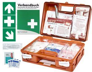 Erste Hilfe Kasten -Paket 1- DIN/EN 13157 für BÜRO & BETRIEBE + DIN/EN 13164 für KFZ - inkl. 1. Hilfe AUFKLEBER & Verbandbuch