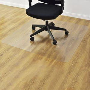 COSTWAY Bodenschutzmatte Bodenschutz Buero Stuhl Unterlage Boden Schutz Matte PVC 2 Groessen zur Wahl 120x120cm