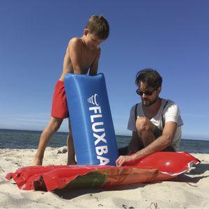Fluxbag Luftpumpe Blau für Luftmatratze Luftbett Wasserspielzeug Schwimmring uvm