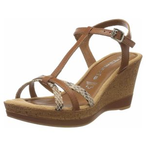 tamaris Damen Sandaletten in braun, Größe 38