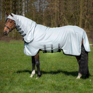 Horseware Rambo Hoody (inkl. Fliegenmaske) - Grey/Beige, Größe:145