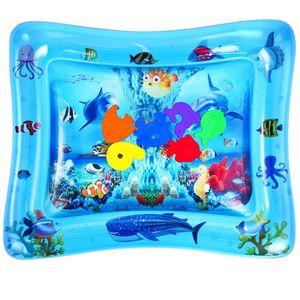 Wassermatte Baby, Wasserspielmatte Baby 3 6 9 Monate, Das Perfekte Lustige Spielzeug für Aktivitätszentren für die Frühe Entwicklung von Säuglingen, Fördert die Visuelle Stimulation(66*50cm)(zufällige Farbe)