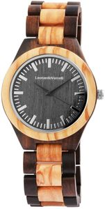 Leonardo Verelli Herren-Armbanduhr aus Holz