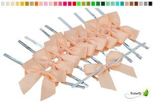 Satinschleifen 5cm, 10 Stück, Farbauswahl:apricot 714