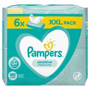 Pampers 81687207, Baby-Feuchttuch, Dermatologisch getestet, Hypoallergen, Neutral pH-Wert, Parfümfrei, Ohne Alkohol