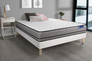Actimemo night matratze 160x200cm + Bettgestell mit lattenrost , Härtegrad 5 , Memory-Schaum , Höhe : 20 cm