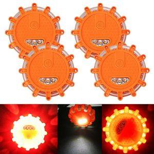 Miixia 4x LED Warnleuchte Magnet Auto Warnblinkleuchte Notfall Blinklicht Notlicht