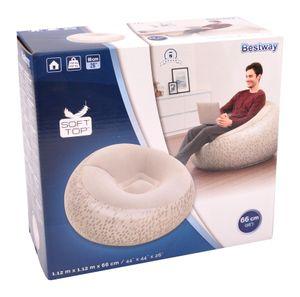Bestway Sessel aufblasbar Sitzsack Luftsessel Lounge Luftmatratze Fernsehsessel, Farbe:weiss