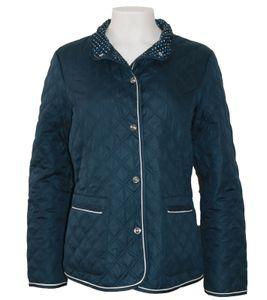 ANNA LARSSEN Outdoor-Jacke stylische Damen Frühlings-Jacke mit Knopfleiste Marine, Größe:38