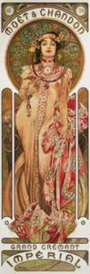 Alphonse Mucha Fototapete Poster-Tapete - Moët Et Chandon, 1899, 1-Teilig (250 x 79 cm)