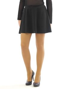 Swing Rock Mini hohe Taille Falten-Rock Gummibund Skirt Minirock schwarz L/XL