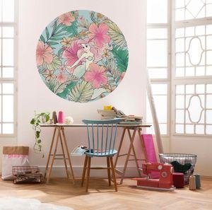 """Komar Vlies Fototapete rund und selbstklebend """"Ariel Ocean Flowers"""" - Größe: 125 x 125 cm (Breite x Höhe) - 1 Stück"""