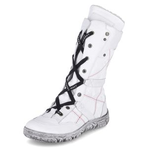 KRISBUT Winter Boots Damen Leder Stiefel 3202-1-3 : 38 weiß