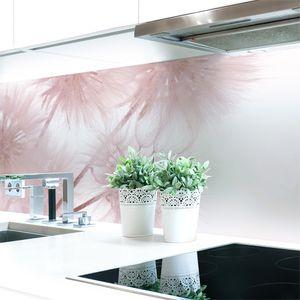 Küchenrückwand Löwenzahn Rosa Premium Hart-PVC 0,4 mm selbstklebend - Direkt auf die Fliesen, Größe:400 x 60 cm